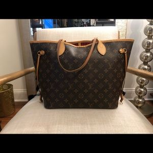 Louis Vuitton Neverfull MM Cerise Interior